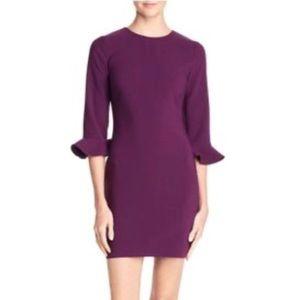 LIKELY Revolve Purple Bedford Bell Sleeve Dress